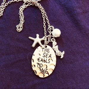 The Sea Calls To Me Necklace with Charms